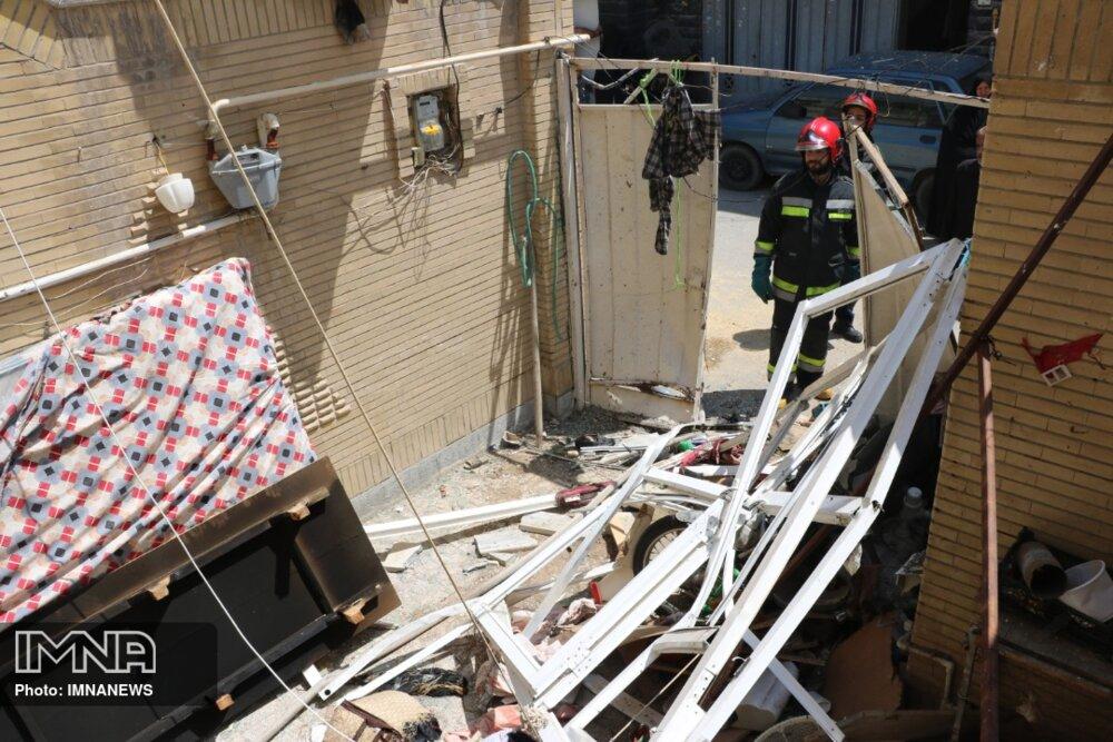 انفجار در یک واحد مسکونی براثر نشت گاز
