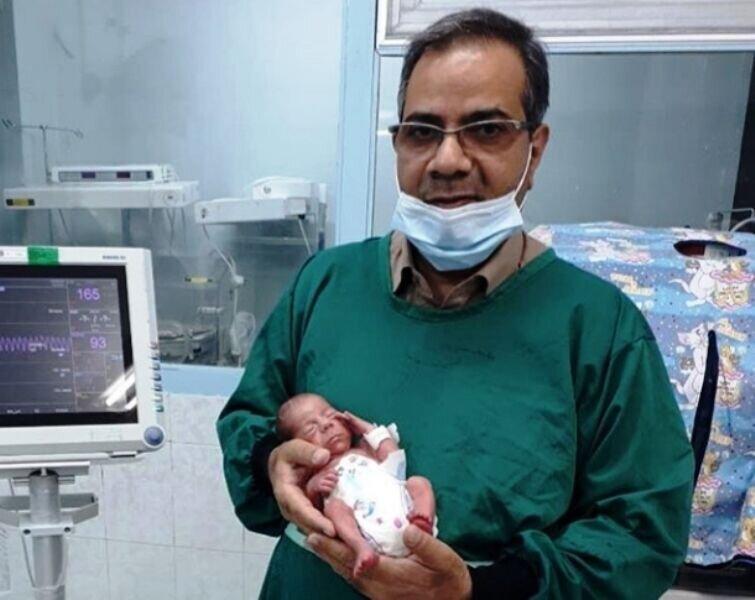 نوزاد ۸۰۰ گرمی یزدی کرونا را شکست داد