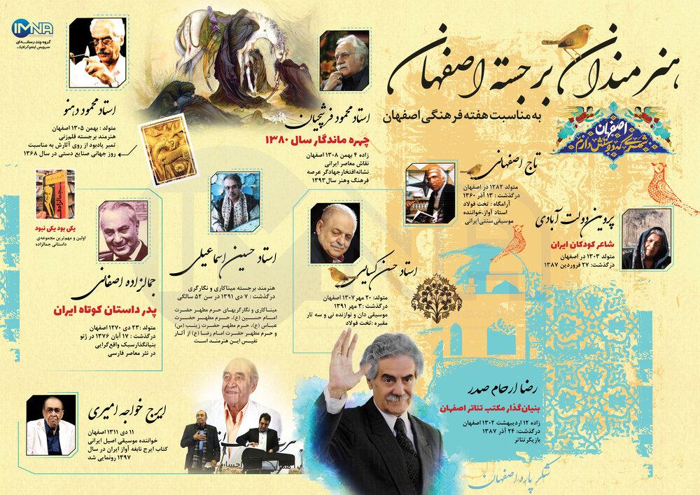 اینفوگرافیک/هنرمندان برجسته اصفهان