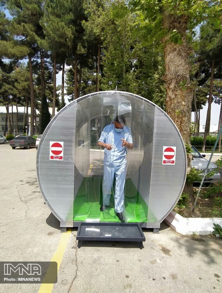 تونلهای ضدعفونی فردی در مشهد نصب شد