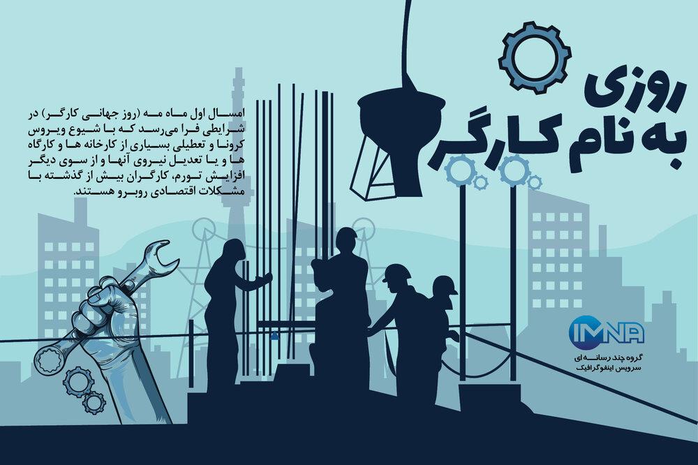 اینفوگرافیک/روزی به نام کارگر
