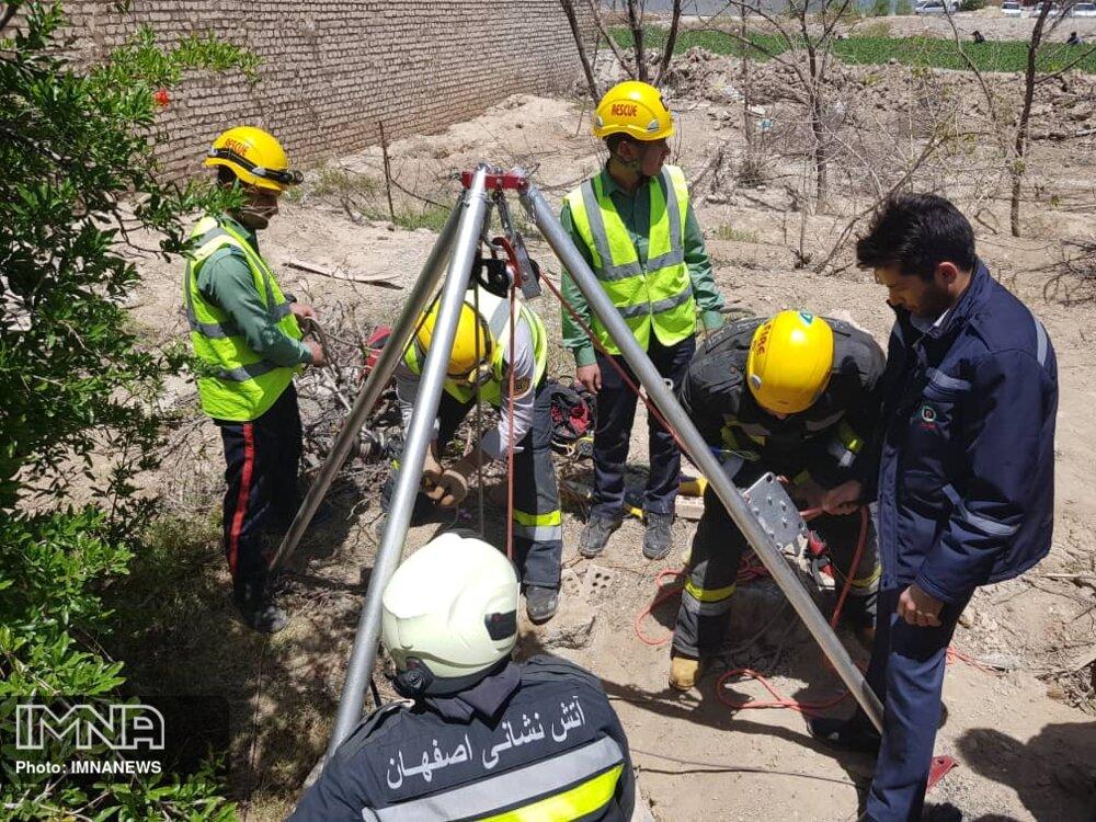 سقوط سه راس دام در چاه محله بازارچه+عکس