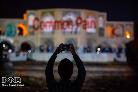 Common Pain illuminated on Khaju Bridge
