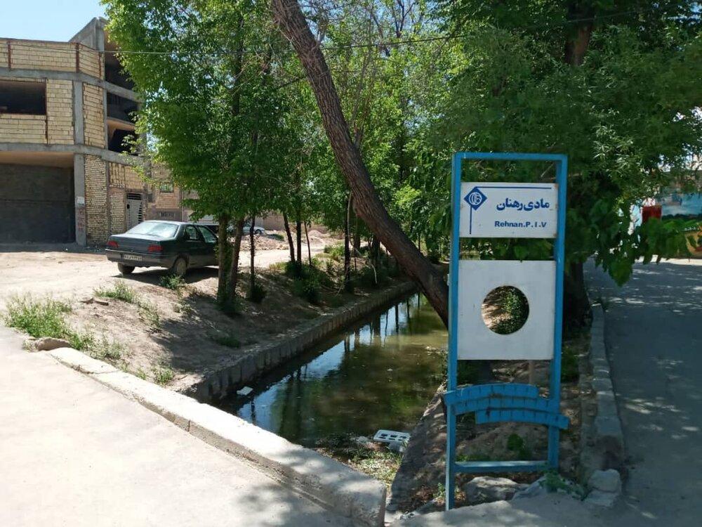 جاری شدن آب زایندهرود در مادیها منطقه ۱۱ پس از ۳۰ سال