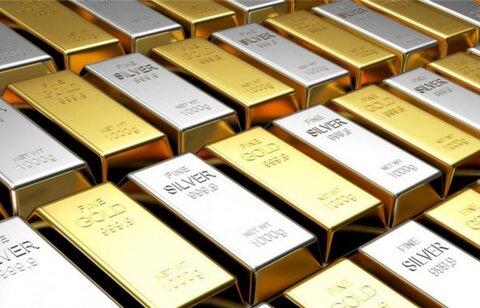 نرخ فلزات گرانبها در بازار جهانی/ کاهش شدید قیمت نقره و طلا
