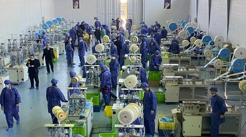 ظرفیت تولید ماسک در کشور افزایش یافت