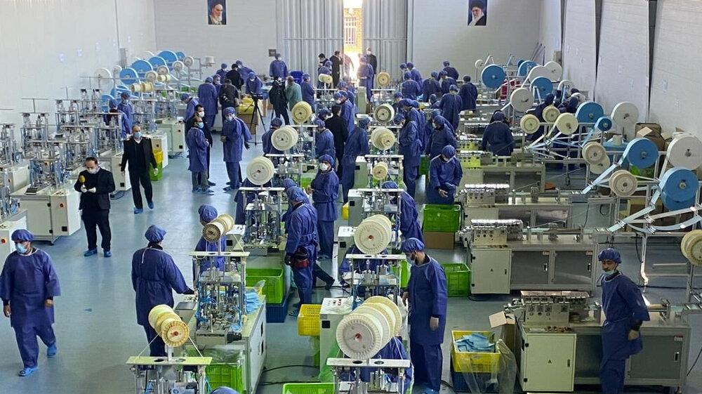تولید روزانه ۵۰۰ تا ۷۰۰ هزار ماسک در اصفهان