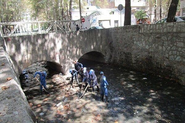کانالها و آبروهای  تبریز  لایروبی و یخ زدایی شد