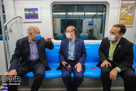 Isfahan's urban subway ramped up services maintaining social distancing