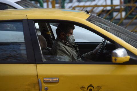برخورد با رانندگان تاکسی بدون ماسک