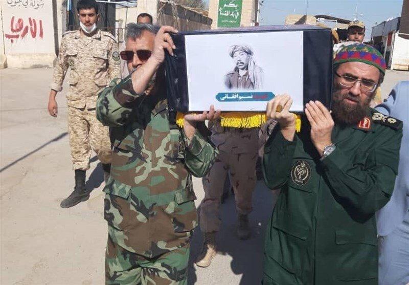 بازگشت پیکر شهید نسیم افغانی