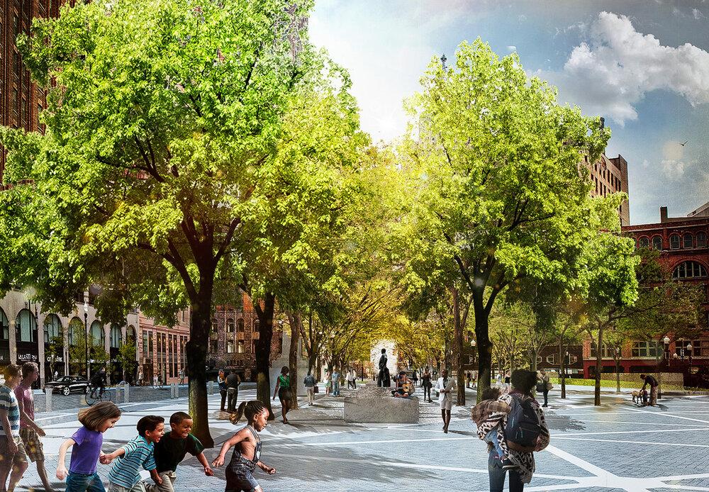 تغییر ظاهر دیترویت با فضای عمومی جدید