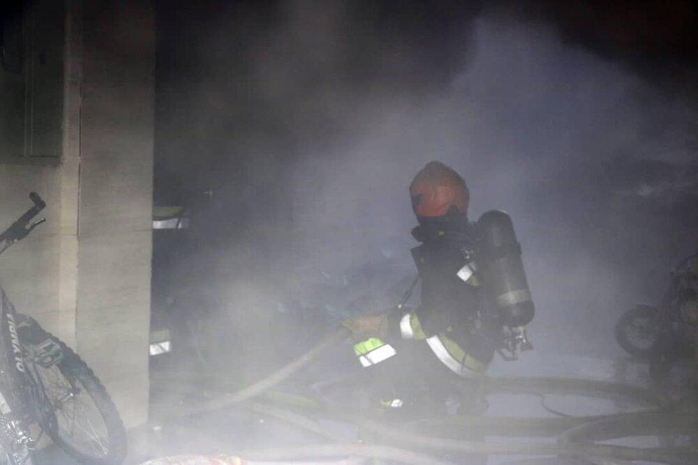 آتشسوزی ساختمان نیمه کاره در آستارا