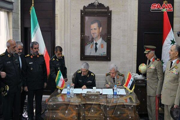 تهران و دمشق توافقنامه همکاری نظامی امضا کردند