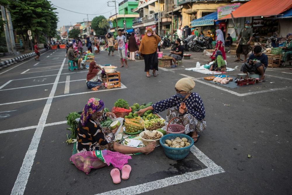 فعالیت دوباره بازارهای اندونزی با حفظ فاصله اجتماعی