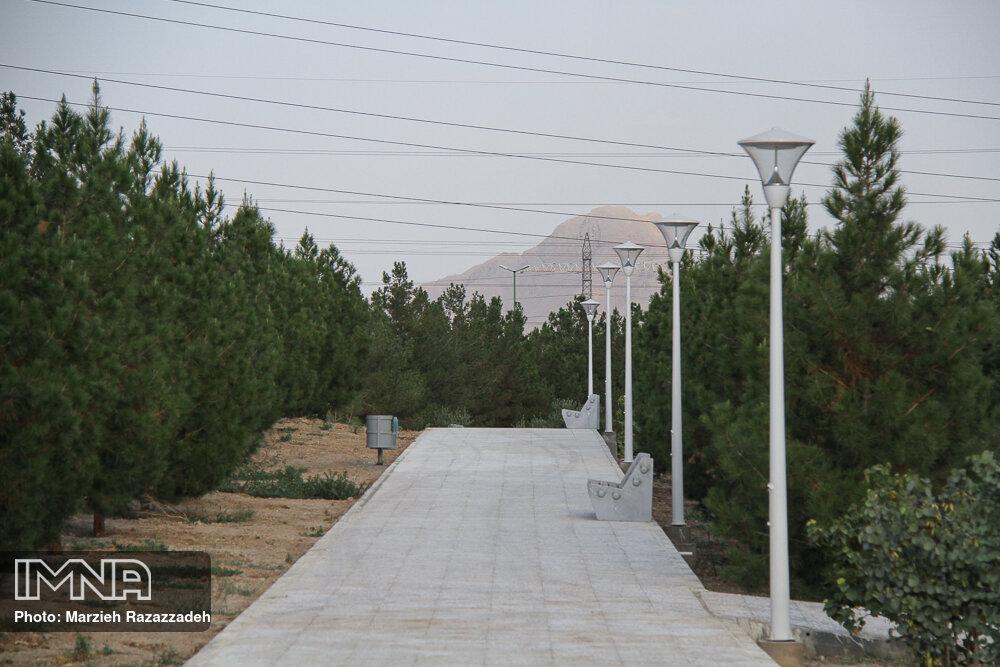 افزایش سرانه فضای سبز شهر اصفهان