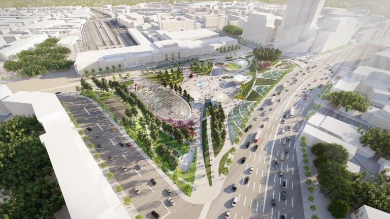 مسکو میزبان میدان شهری با طراحی جالب