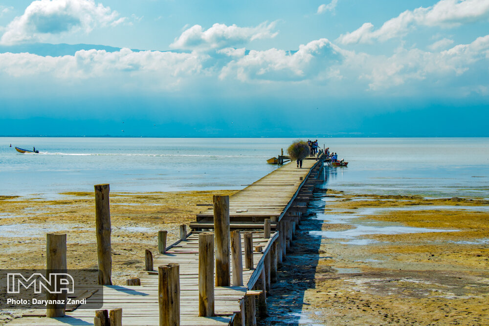 Earth's largest inland sea in northern Iran