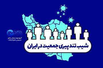 شیب تند پیری جمعیت در ایران/اینفوگرافیک