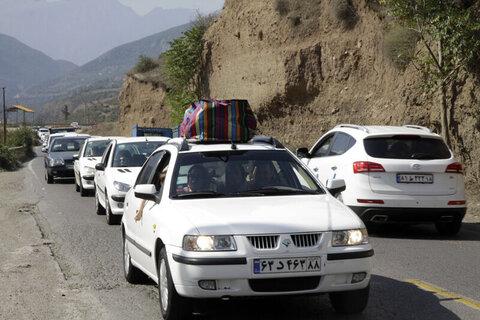 ترافیک در جادههای مازندران عادی است