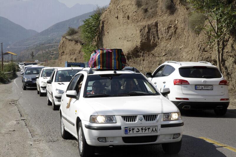 هجوم گردشگران به مازندران و ترافیک سنگین جادهها