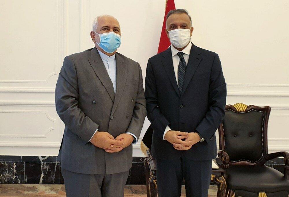 ظریف با نخست وزیر عراق دیدار و گفت و گو کرد