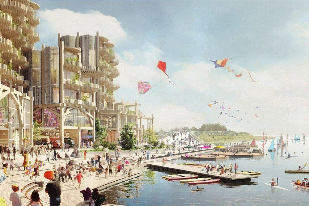 توسعه مناطق اطراف سواحل تورنتو