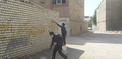 امحای ۲۸۱ مورد دیوارنویسی در اصفهان/جملات تهدیدآمیز پیگرد قانونی دارد