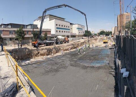 اتمام عملیات مرحله نخست بتنریزی ایستگاه چهارسو