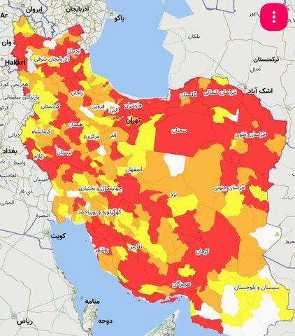 وضعیت قرمز در هشت شهرستان استان/ اصفهان قرمز شد