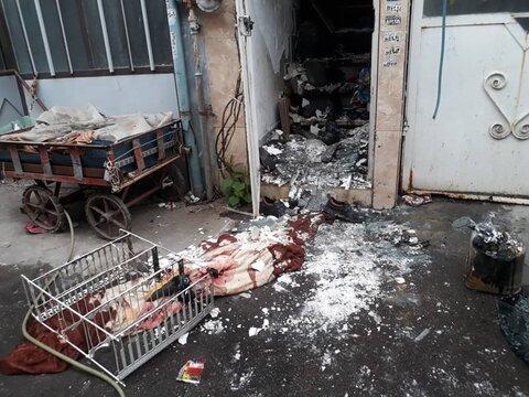 حادثه انفجار در رشت ۲ مصدوم داشت+عکس
