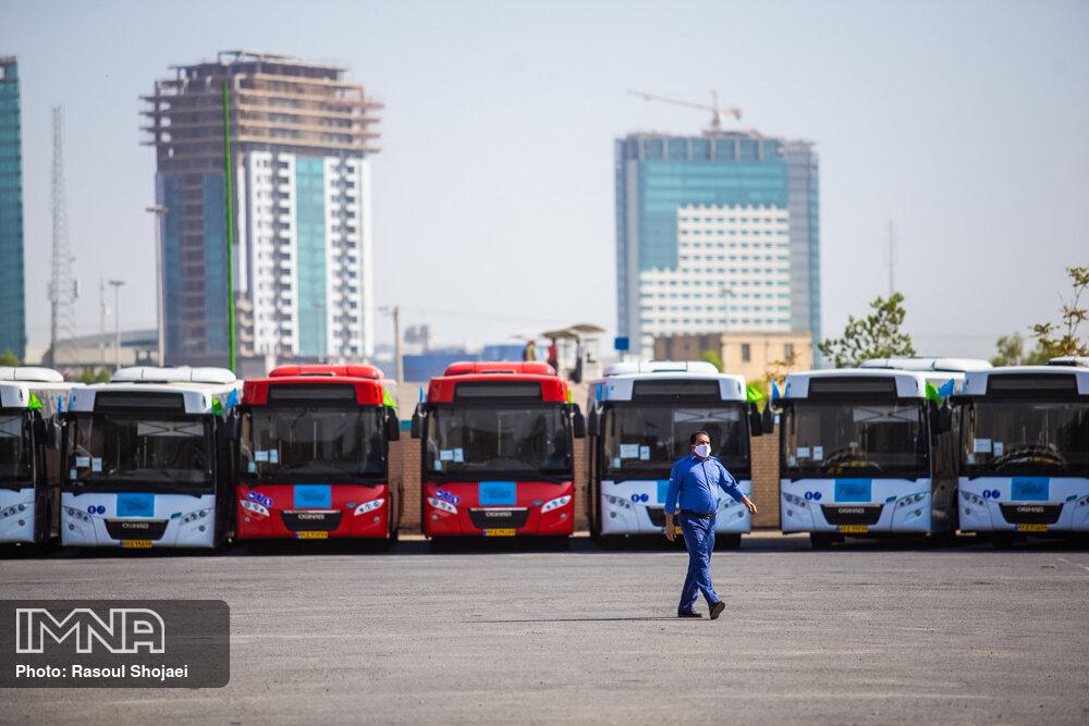 استفاده از اتوبوسهای نوسازی شده برای اولین بار در اصفهان