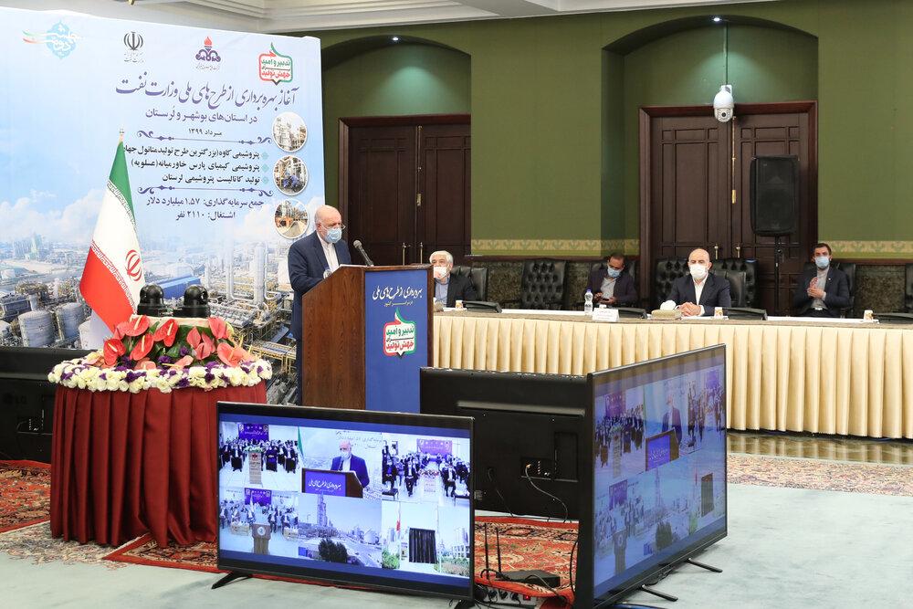 آغاز بهرهبرداری از ۳ پروژه بزرگ و ملی وزارت نفت با دستور روحانی