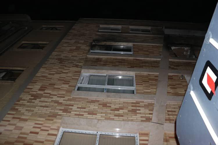 آتش سوزی در طبقه پنجم آپارتمانی در رشت