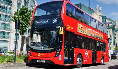 """ناوگان اتوبوسرانی لندن تا ۲۰۳۰ """"آلایندهصفر"""" میشود"""