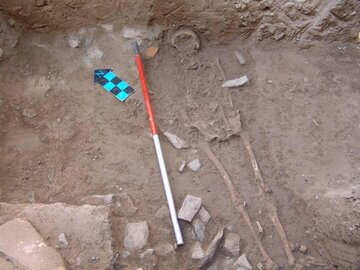 Ancient skeleton of a Parthian girl dug up  in Isfahan