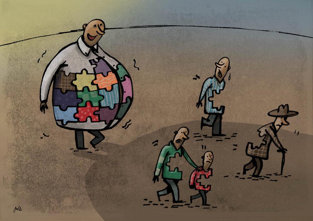 کارتون/ حق کرامت و برابری انسانی