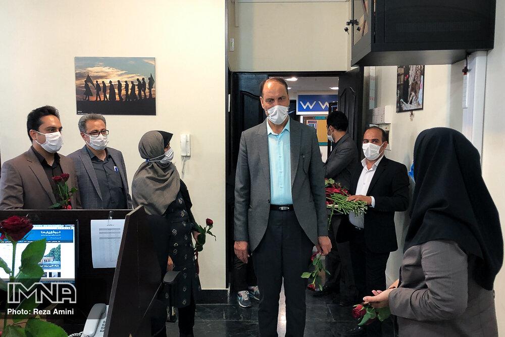 بازدید رییس و سخنگوی شورای اسلامی شهر اصفهان از  ایمنا