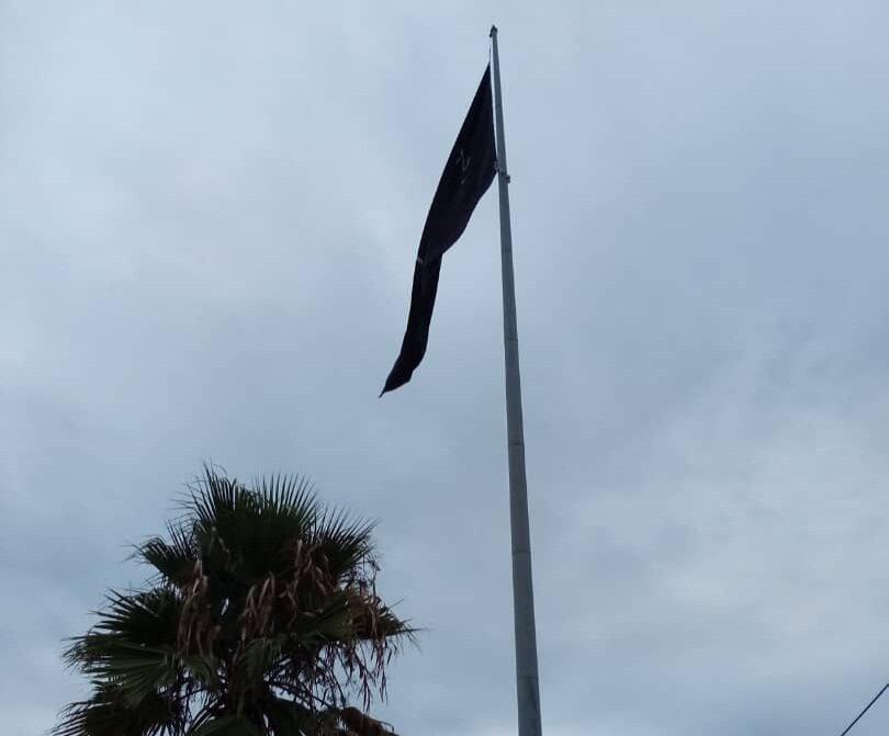 اهتزاز  ۳۰۰ پرچم مشکی در شهر گلپایگان