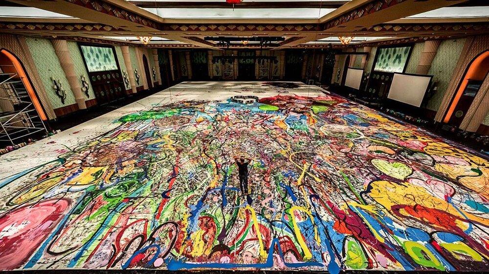 بزرگترین نقاشی جهان در دبی به حراج گذاشته شد