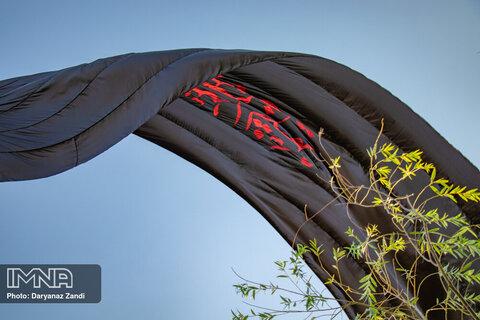 نصب ۲۹ هزار متر پرچم سیاه در اراک