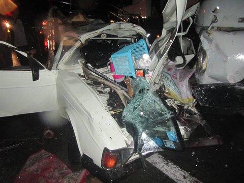 تصادف مرگبار در جاده سراوان ۲ کشته برجای گذاشت+تصاویر