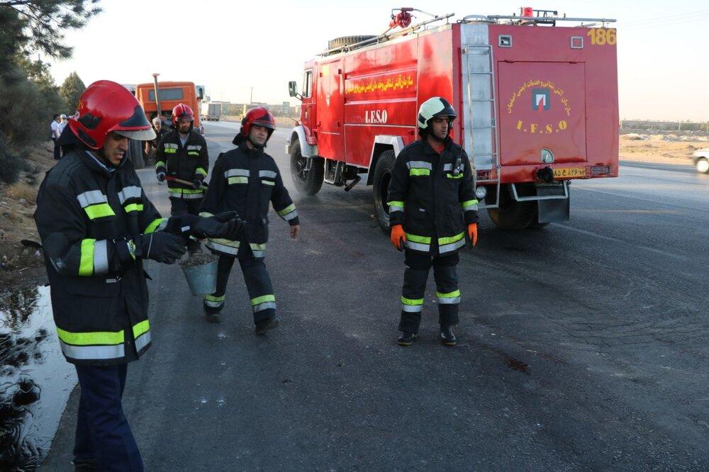آتشنشانان گلپایگانی درجه دار شدند
