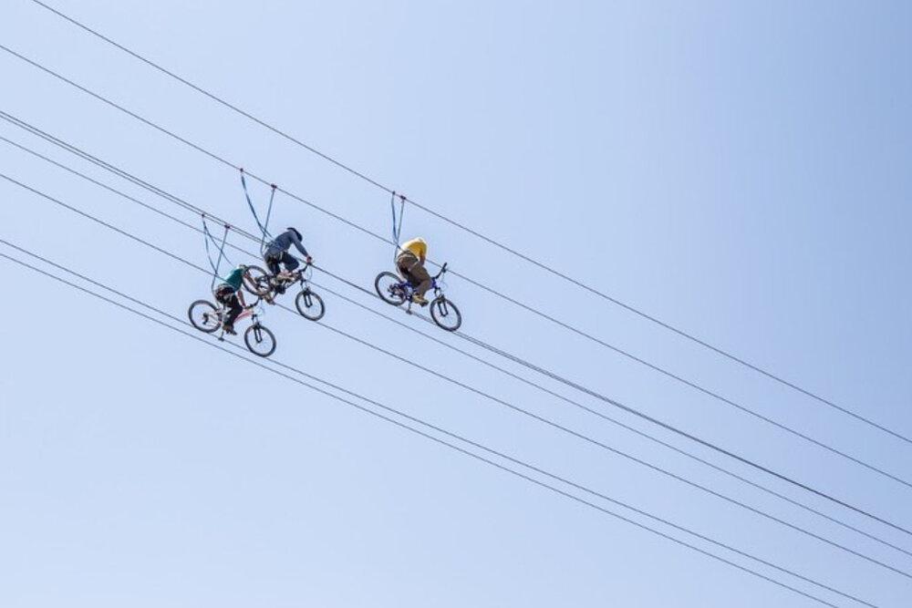 افتتاح خط دوچرخه هوایی اسکای بایک قزوین