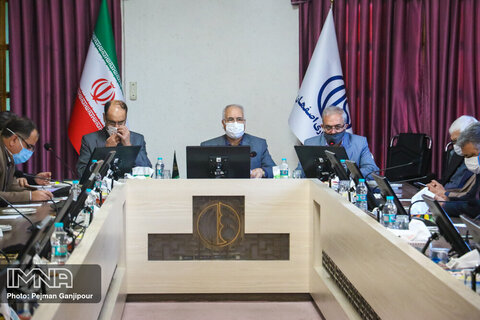 جلسه بررسی پروژه های عمرانی شهرداری اصفهان