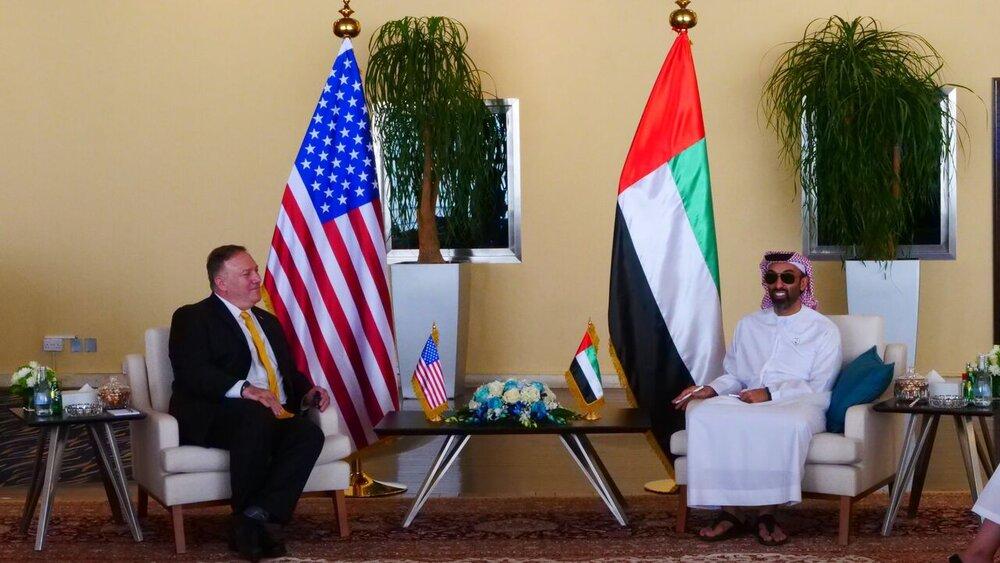 وزیر خارجه آمریکا با مقامهای اماراتی درباره ایران گفتوگو کرد