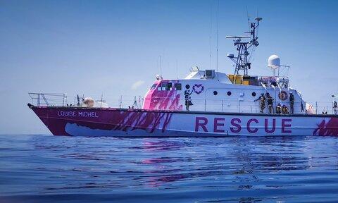 کشتی نجات بنکسی برای پناهجویان