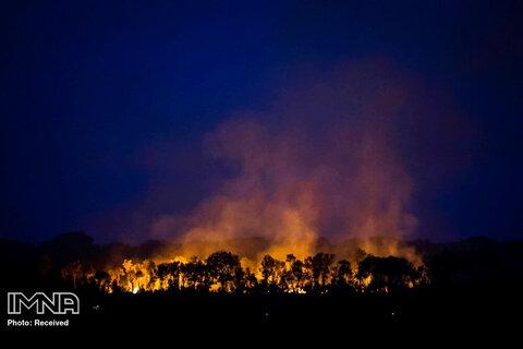 آتش سوزی جنگل ها در نزدیکی هومیتا ، ایالت آمازون