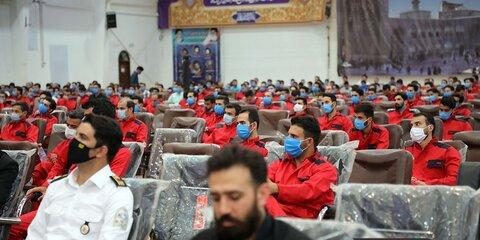 آموزش ۵۳۵ نفر از آتش نشانان جدید آتش نشانی مشهد