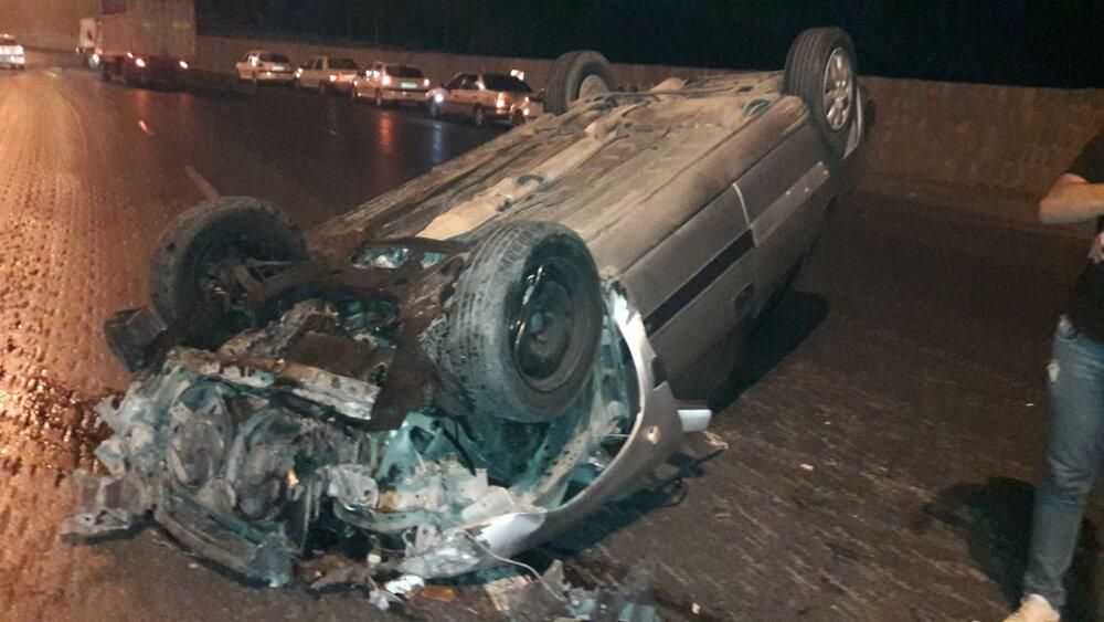 ۶ کشته و مصدوم در واژگونی خودرو سمند در محور یاسوج- اصفهان